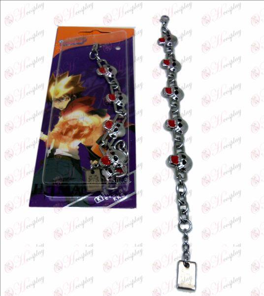 D tutor kito flag metal bracelet (red)