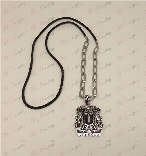 DReborn! Accessories logo punk long necklace (silver)