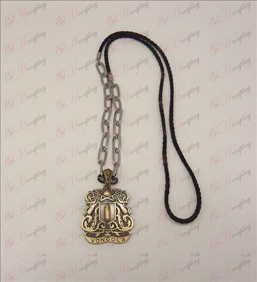 DReborn! Accessories logo punk long necklace (bronze)