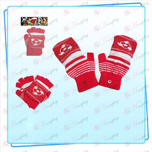 Write round eyes dual glove (red)