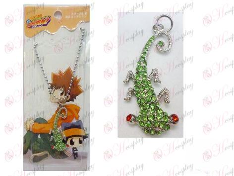 Reborn! Accessories gecko diamond bead chain