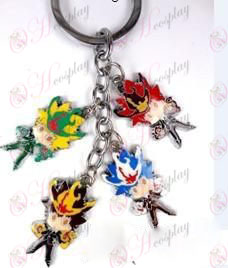 Reborn! Accessories-A steel color 4 Pendant keychain