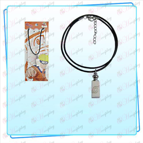 Naruto weights black rope necklace