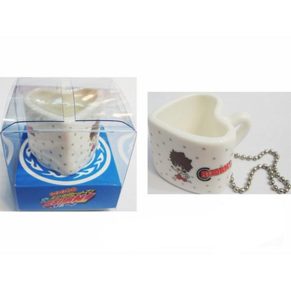 Reborn! Accessories bag pendant heart-shaped ceramic cup
