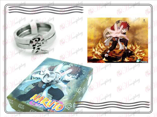 Naruto Gaara stainless steel couple rings