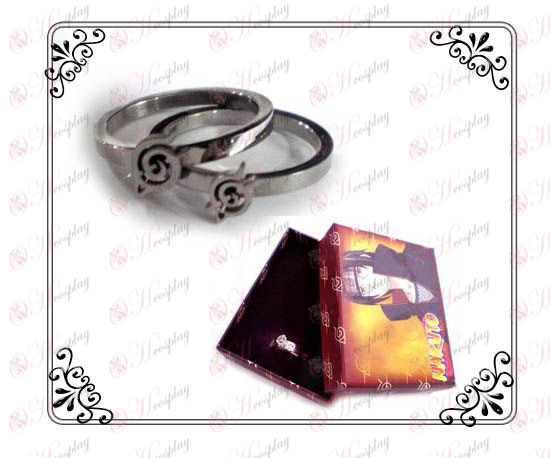 Наруто бунтовнически Търпение неръждаеми стоманени пръстени двойка