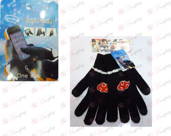 Red Cloud Touch Gloves Naruto logo