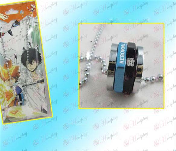Reborn! Accessories hexagonal rotating black necklace