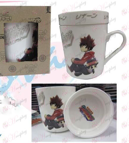 Cartoon ceramic cup (with lid) Reborn! Accessories