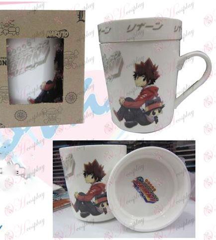 Cartoon ceramic cup (with lid) Reborn! Accessories