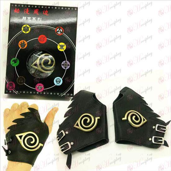 Naruto konoha logo Ban kepi handskar koppar