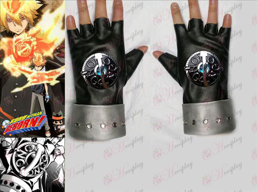 Tutoring punk generazione guanti blu