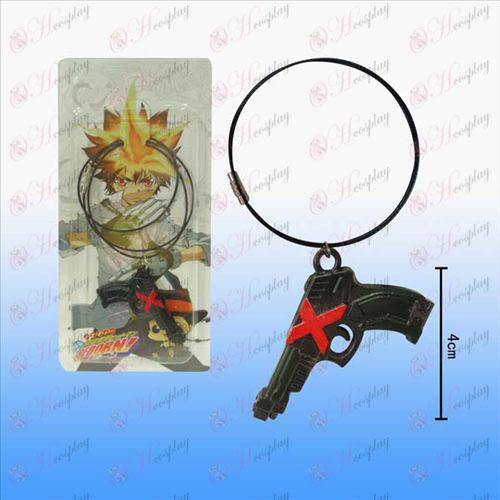 Reborn! Accessories Wa Lian pistol necklace