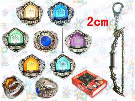 Reborn! Accessories gemstone necklace + Gold Bow Set