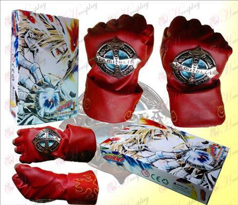 Reborn! Accessories half finger gloves red