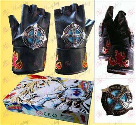 Nachhilfe halbe Fingerhandschuhe schwarz