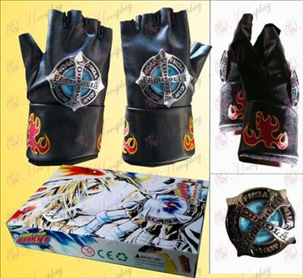 Tutoring half-finger gloves black