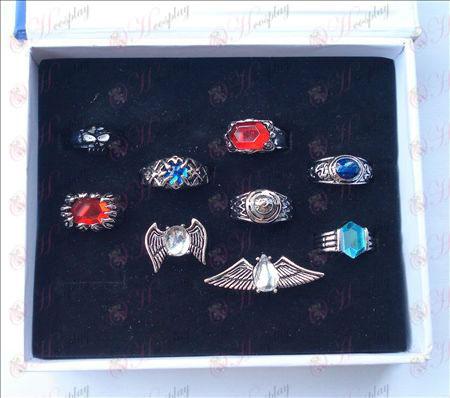 9 szerelt Reborn! Kiegészítők Gyűrűk