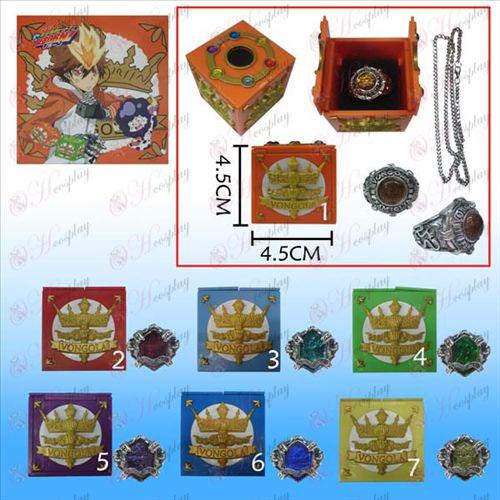 Models Reborn! Accessories Vongola Ring Necklace casket + (a)