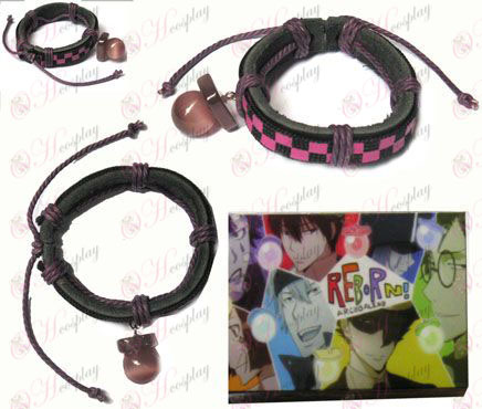 Tutoring pacifier special edition leather strap purple