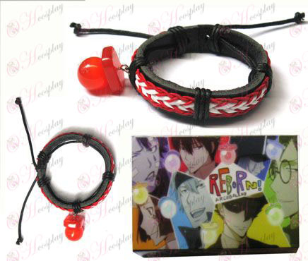 Tutoring pacifier special edition red leather strap