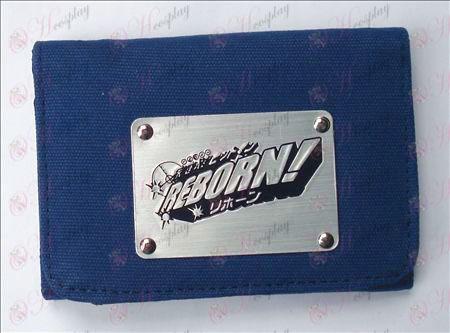 Reborn! Accessories White Canvas Wallet (Blue)