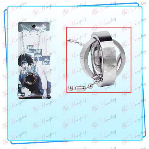 Death Note Accessories Dual Ring Necklace (card)
