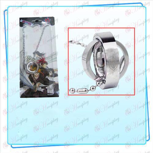 Bleach Accessories Dual Ring Necklace virtual fire (card)