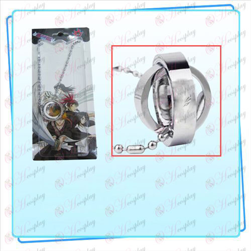 Bleach Accessories Dual Ring Necklace half of the face (card)