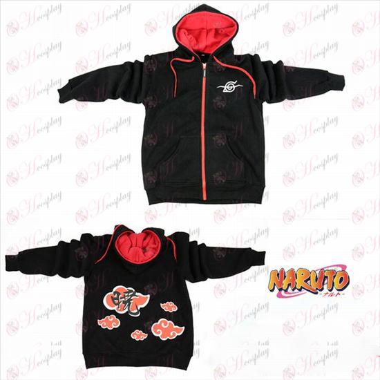 Naruto rebel sortbjørn logo lynlås hoodie trøje