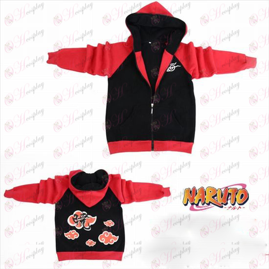 Naruto overbærenhed rebel flag gaffel sleeve lynlås hoodie trøje