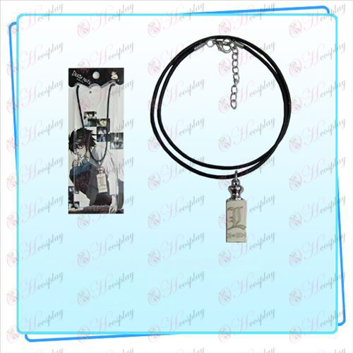 Death Note AccessoriesL bandiera pesi collana di corda nera