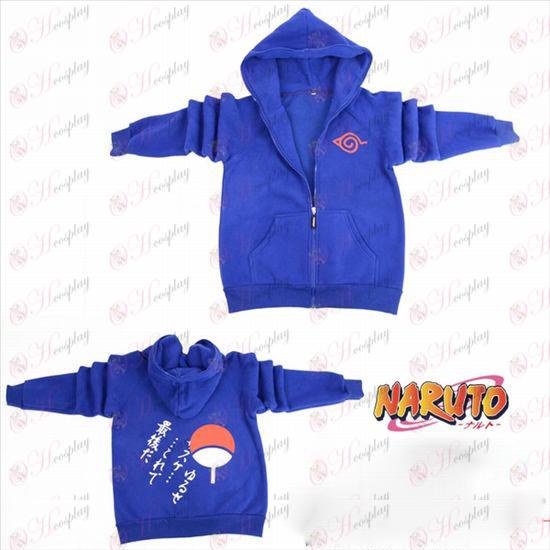 Naruto Konoha logo gaffel sleeve lynlås hoodie trøje