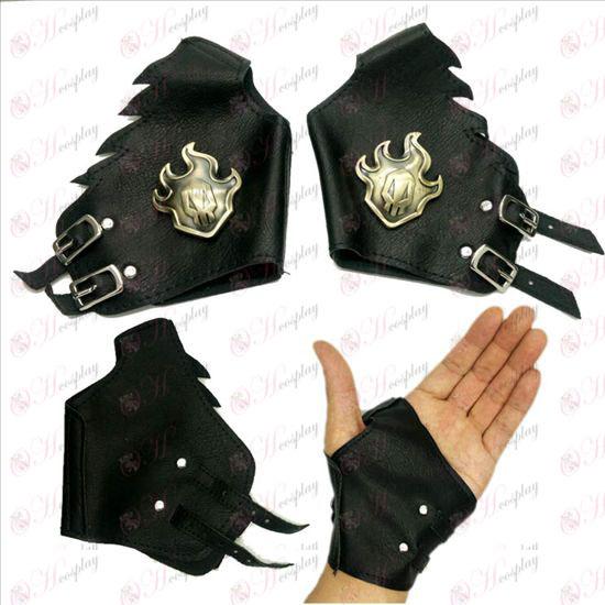 Bleach Accessories logo leather gloves copper