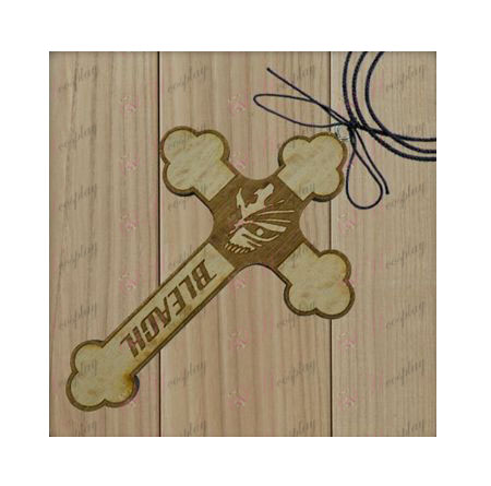 Bleach Accessories-breaking surface markings wooden cross necklace