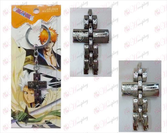 Bleach Accessories black and white cross key chain