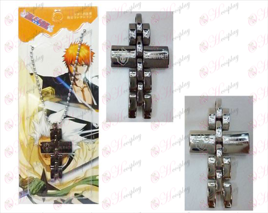 Bleach Accessories black and white cross necklace