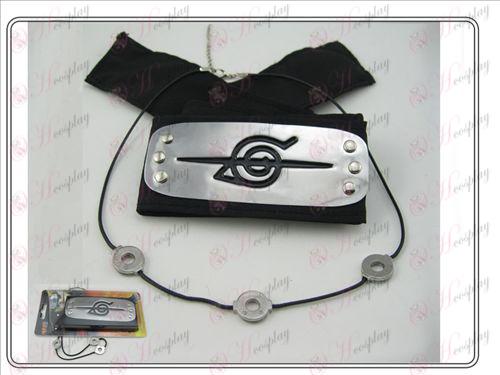 Naruto Itachi Headband colar + preto paciência rebelde (terno)