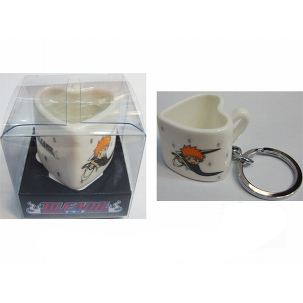 Bleach Accessories heart-shaped ceramic cup keychain
