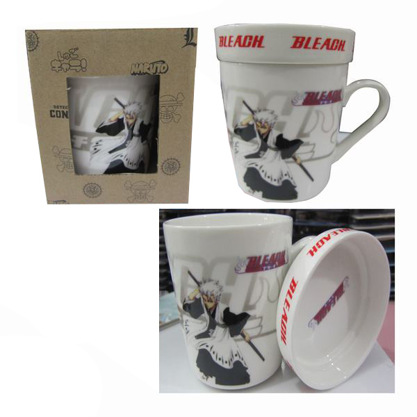 Cartoon ceramic cup (with lid) Bleach Accessories