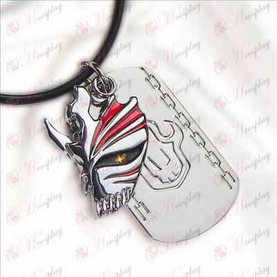 Bleach Accessories-breaking face double tag necklace
