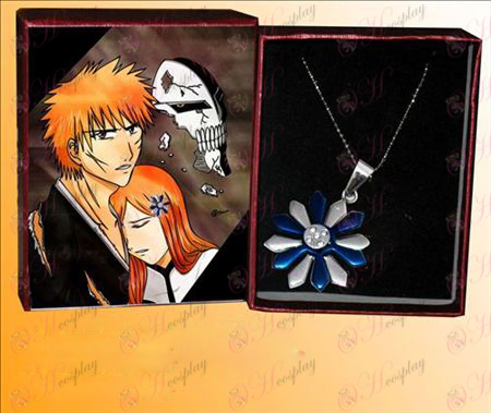 Bleach Tillbehör Inoue Hime sköld Shun sex blommor vävda rostfritt halsband stål hänge