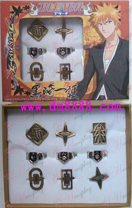 9 Bleach Accessories bronze mixed models Ring Set