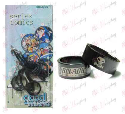 Bleach Accessories proxy card black steel couple rings necklace (Rope)