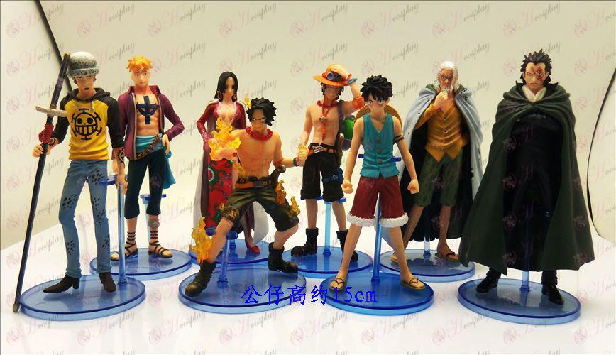 Acht Original Bandai One Piece Zubehör Doll (ca. 15cm)