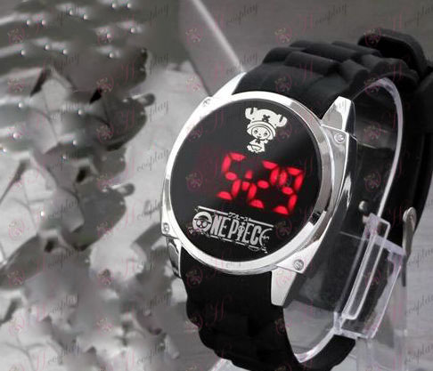One Piece Tilbehør Chopper logo LED touch screen ur