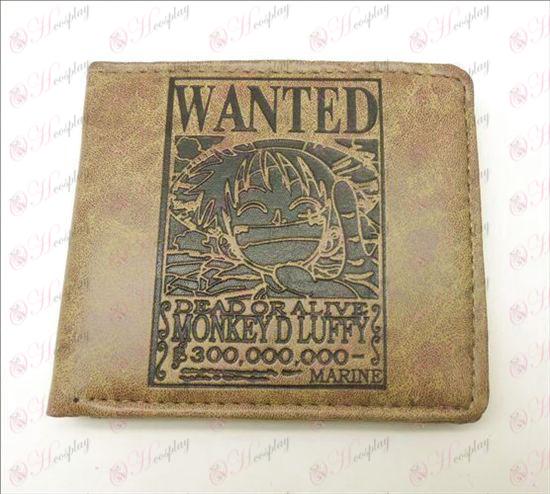 One Piece Accessories Luffy matte wallet