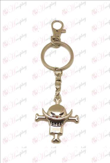 One Piece Accessories white beard Keychain