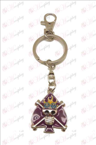 One Piece Accessories Ice Skull Keychain