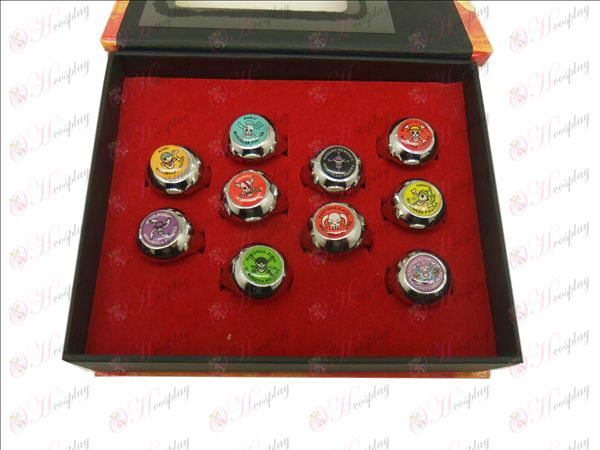 10 One Piece Accessories Rings (color)